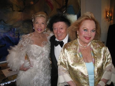 CC with philanthropist Lois Pope of Palm Beach, and funny man Marty Allen