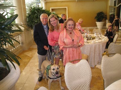 CC with PetLifeRadio personality Megan Blake, her dog, Super Smiley, and philanthropist Bob Lee McKinney