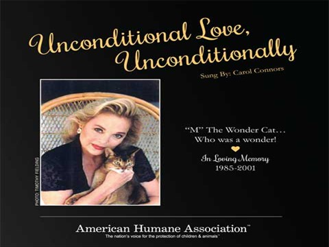 Unconditional Love, Unconditionally - CC and her beloved furry friend Music