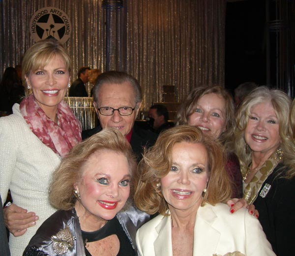 Picture of Carol and friends at Hollywood Arts Council Charlie awards luncheon 2011