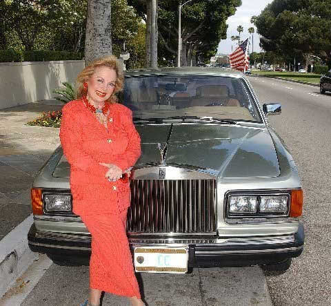 Carol Connors and her Rolls Royce